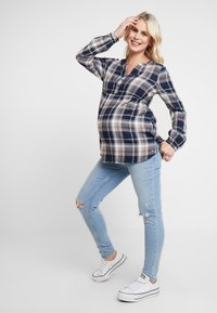 Esprit Maternity - BLOUSE CHECK - Blouse - night blue - 1