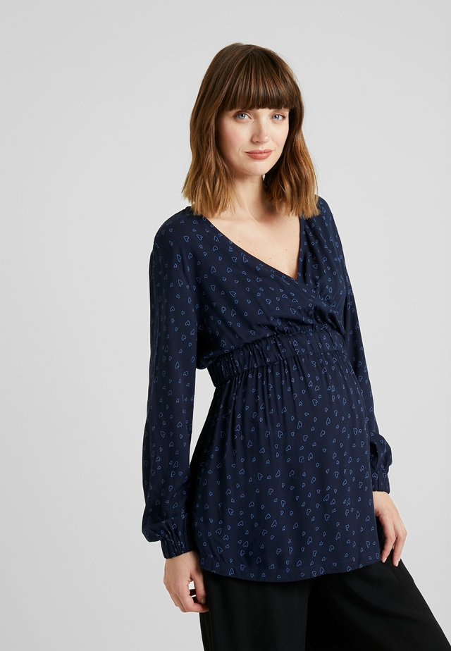 BLOUSE - Blouse - night blue