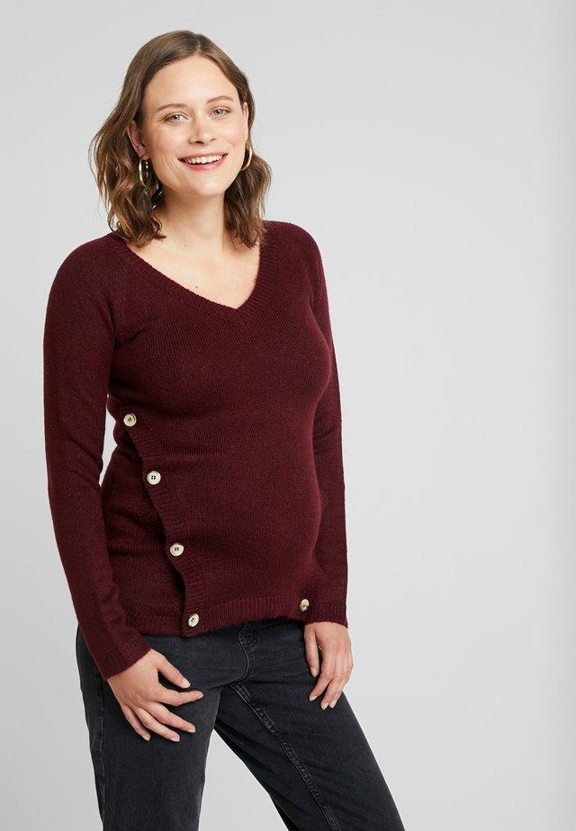 Pullover - garnet red