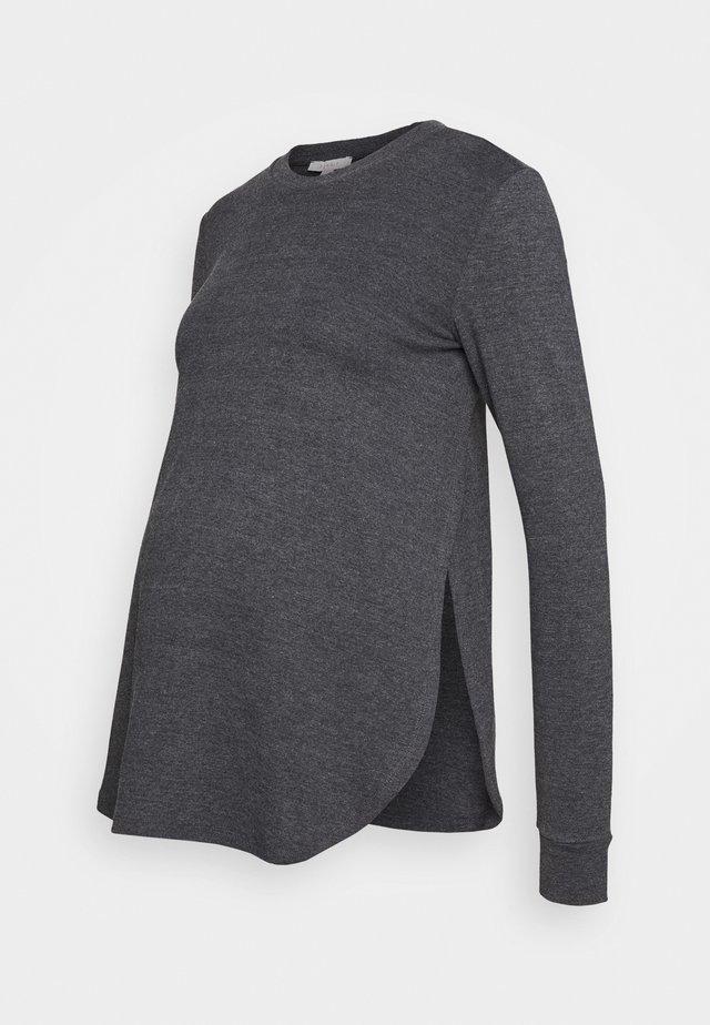 Långärmad tröja - anthracite melange