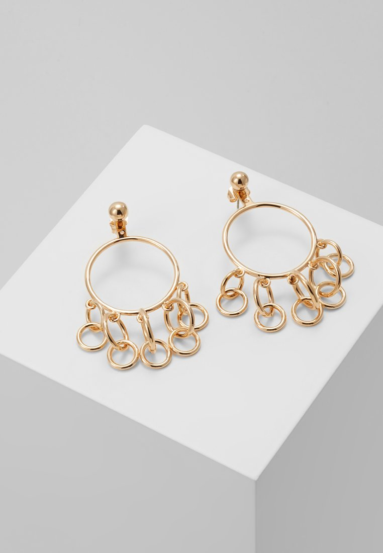 Eshvi - HULA HOOPS JUMPING CHARM - Earrings - yellow gold-coloured