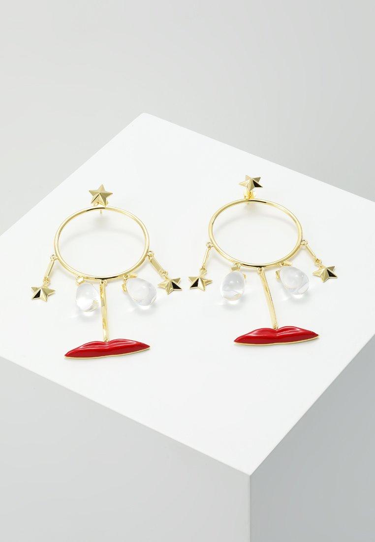 Eshvi - Orecchini - gold-coloured/red