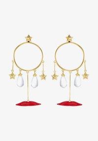 Eshvi - Ohrringe - gold-coloured/red - 3