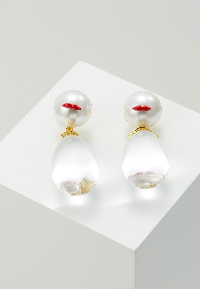 Eshvi - Ohrringe - gold-coloured/white