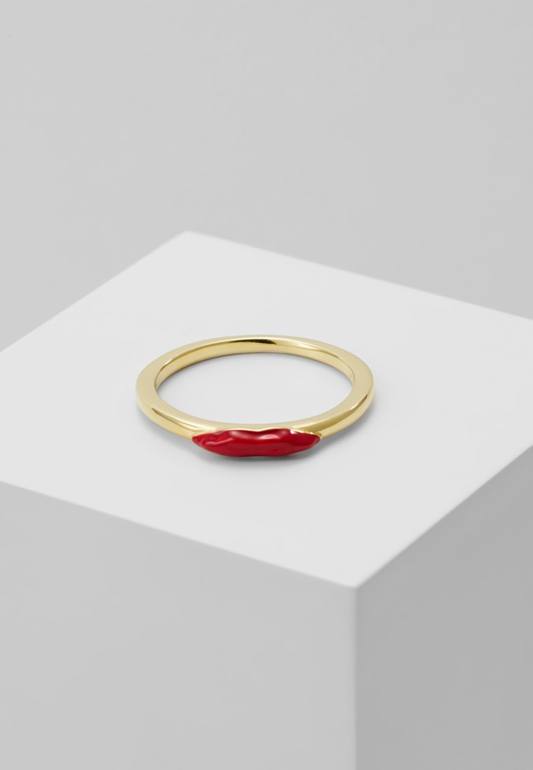 Eshvi - Ring - gold-coloured/red
