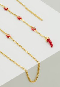 Eshvi - Ohrringe - gold-coloured/red - 2