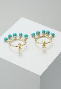Eshvi - FANG PEARL CHARMS - Ohrringe - gold-coloured/turquoise - 2
