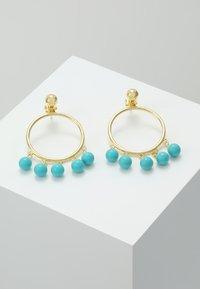 Eshvi - FANG PEARL CHARMS - Ohrringe - gold-coloured/turquoise - 0