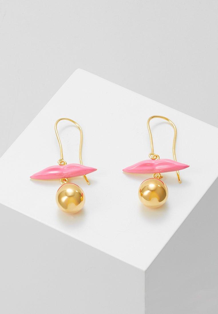 Eshvi - Pendientes - gold-coloured/pink