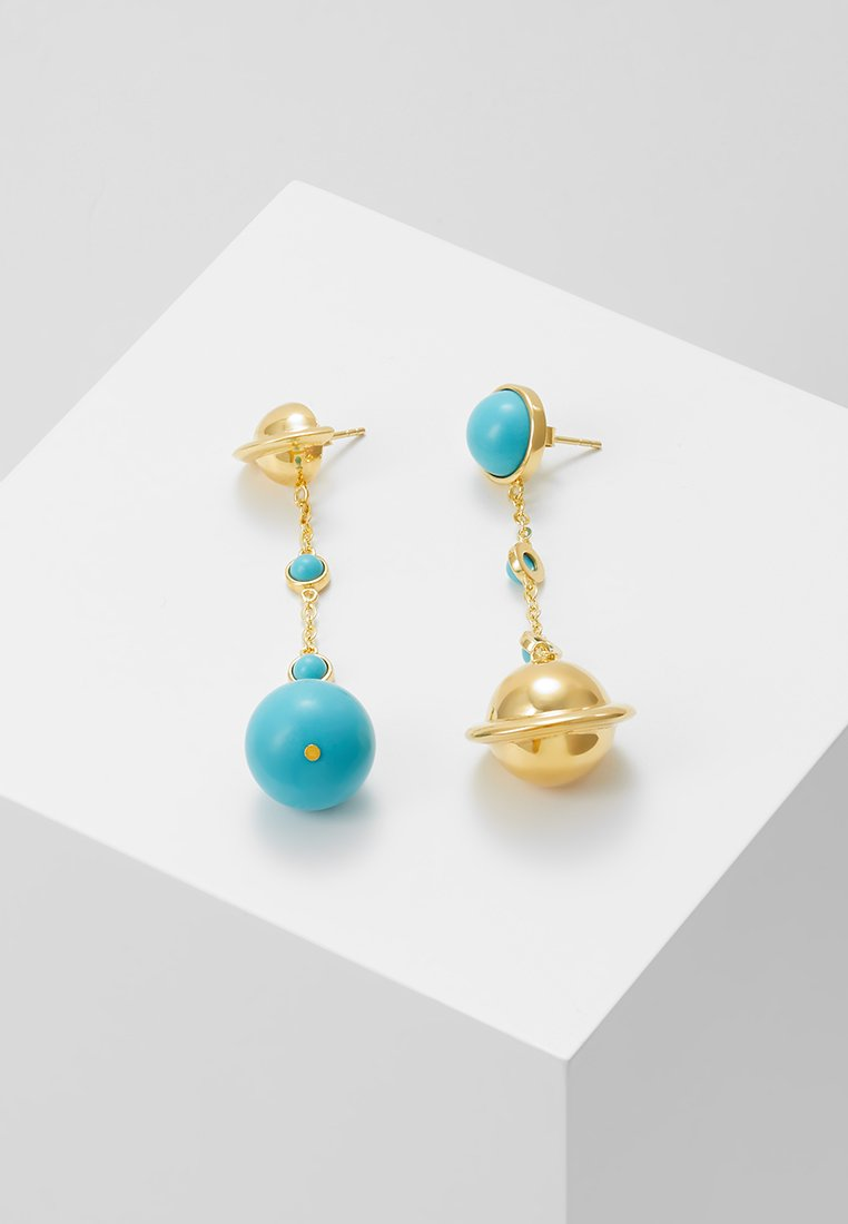 Eshvi - ASTRO - Earrings - gold-coloured/turquoise