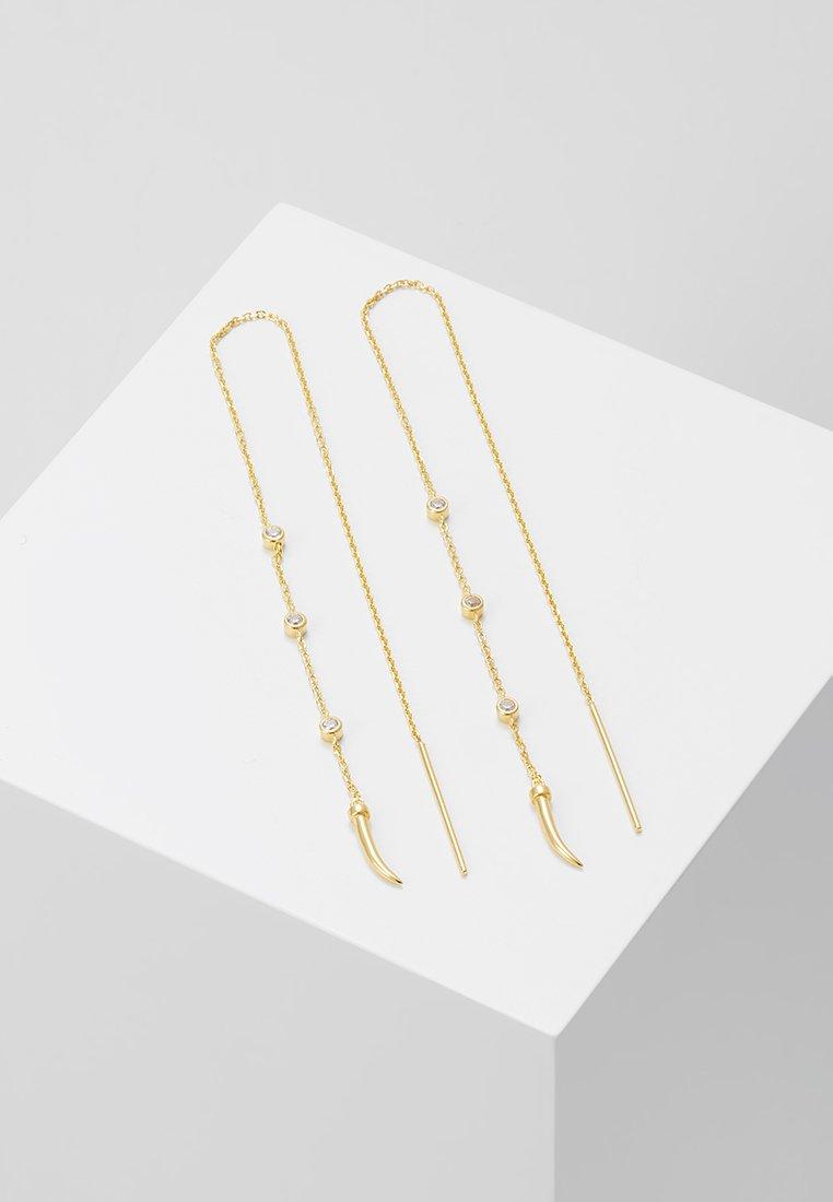 Eshvi - Earrings - yellow gold-coloured