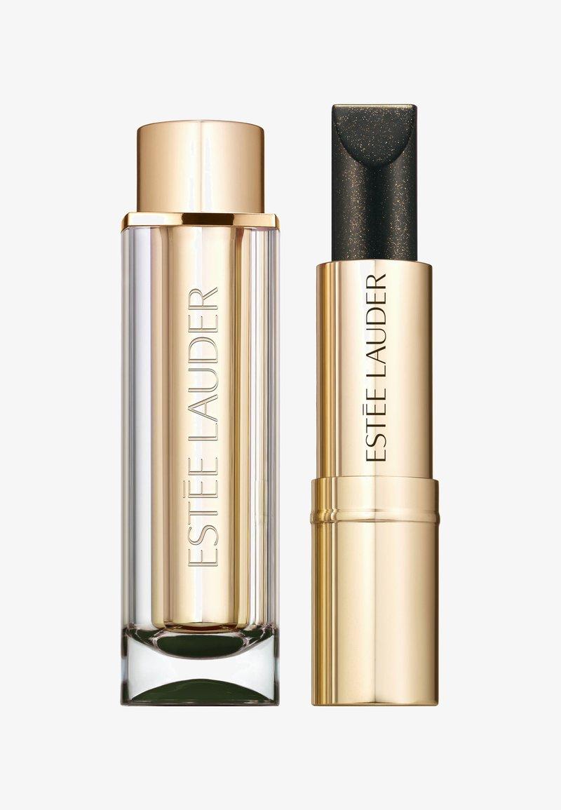 Estée Lauder - PURE COLOR LOVE LIPSTICK CHROME - Læbestifte - 180 black star