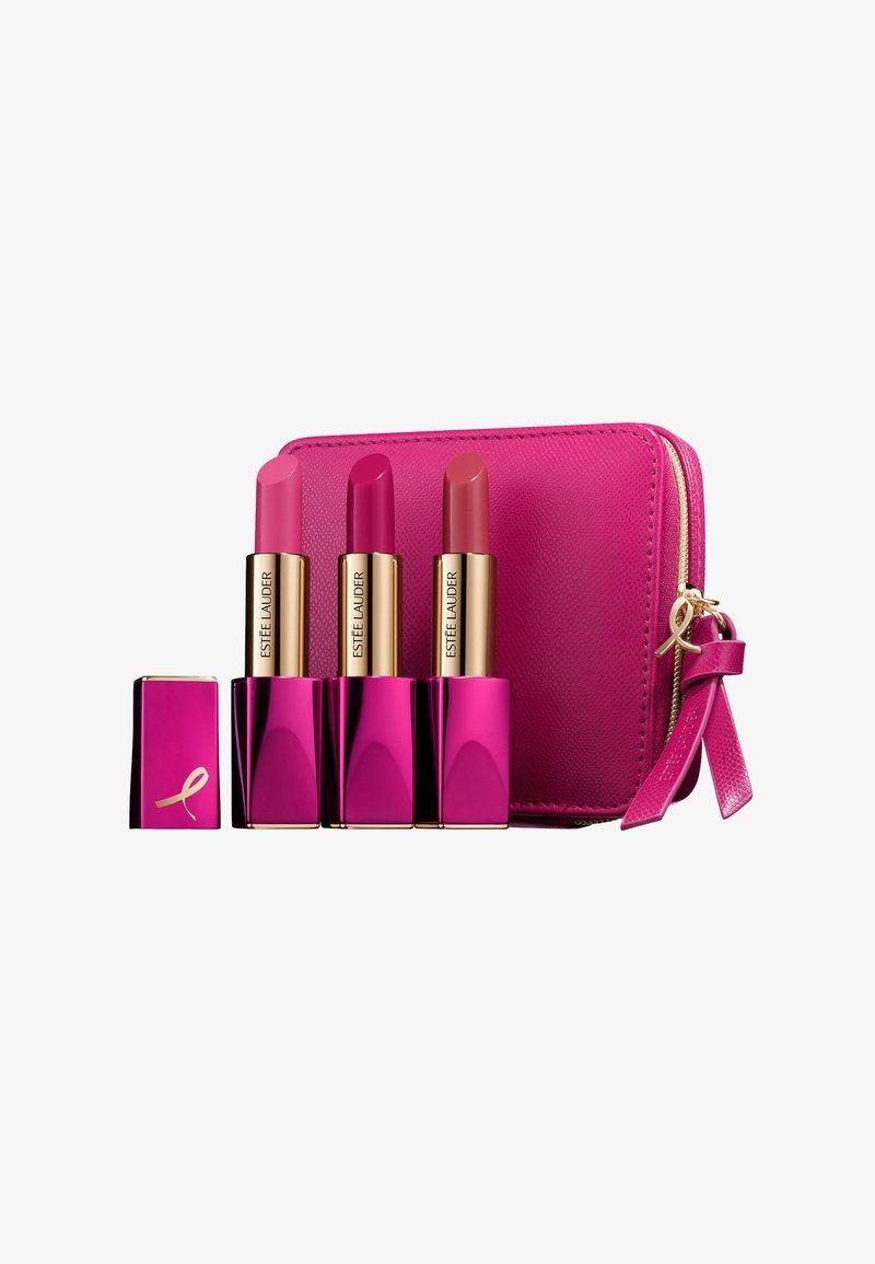 Estée Lauder - PINK PERFECTION LIPSTICK SET - BREAST CANCER AWARENESS  - Lippalet - powerful/tumultuous pink/rebellious rose