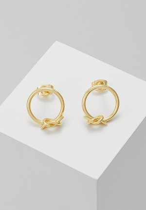 CIRCLE KNOT EARRINGS - Náušnice - gold-coloured