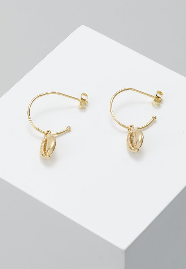 HOOP COWRIE DROP EARRINGS - Kolczyki - gold-coloured
