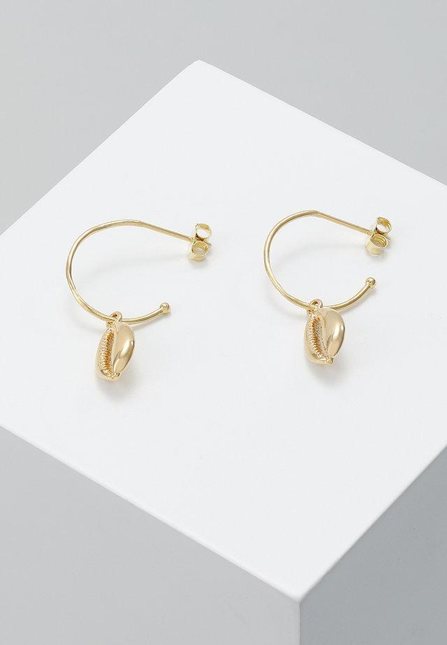 HOOP COWRIE DROP EARRINGS - Oorbellen - gold-coloured