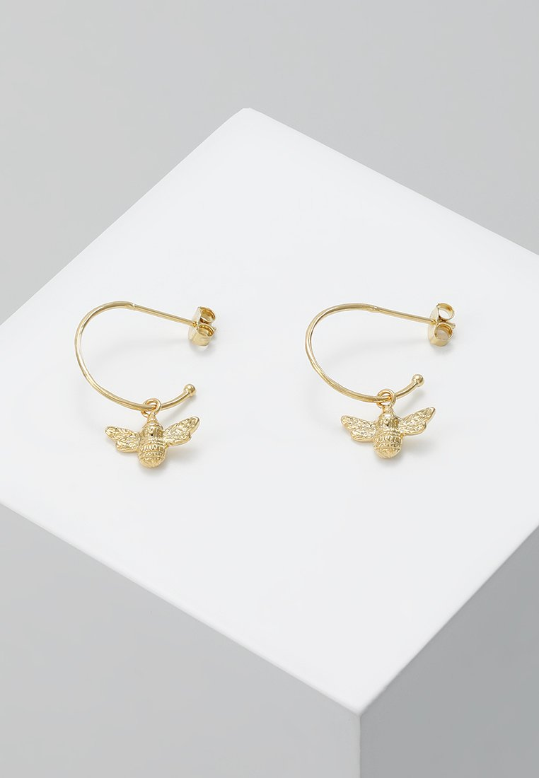Estella Bartlett - HOOP BEE DROP EARRINGS - Earrings - gold-coloured