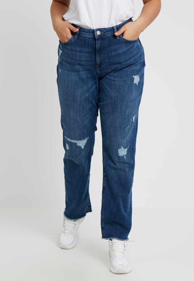 Esprit Curves - Straight leg jeans - blue light wash