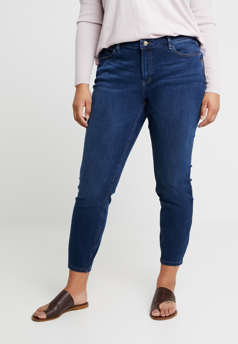 Esprit Curves - MR SKINNY PANTS  - Jeans Skinny Fit - blue dark wash