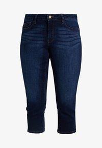 Esprit Curves - CAPRI PANTS - Jeans Slim Fit - blue dark wash - 3