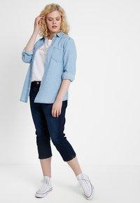 Esprit Curves - CAPRI PANTS - Jeans Slim Fit - blue dark wash - 1