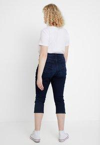 Esprit Curves - CAPRI PANTS - Jeans Slim Fit - blue dark wash - 2