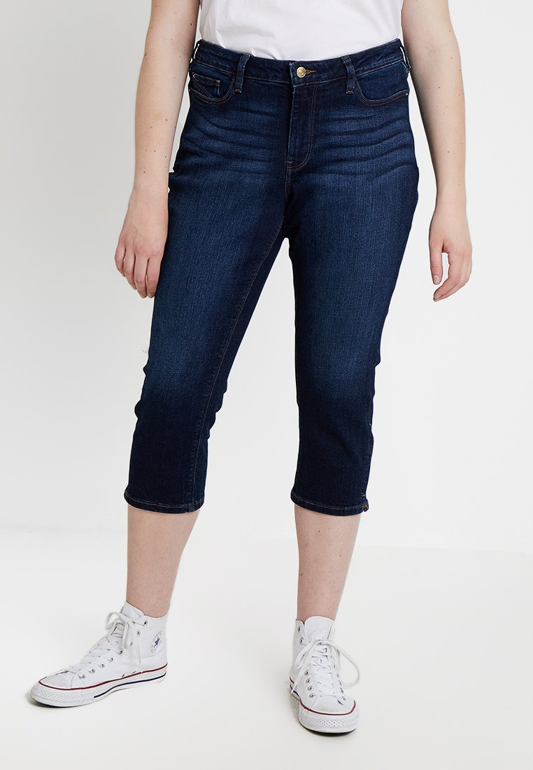 Esprit Curves - CAPRI PANTS - Jeans Slim Fit - blue dark wash