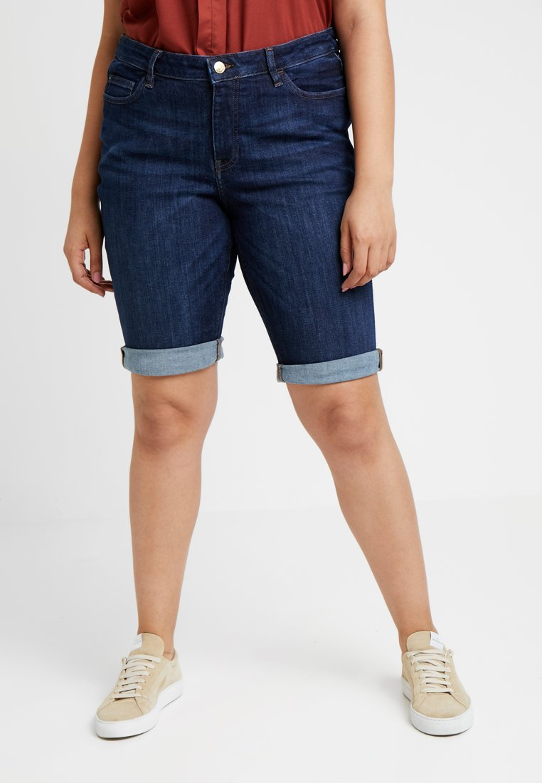 Esprit Curves - Jeans Shorts - blue dark wash