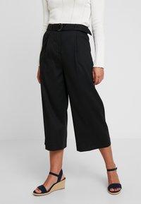 Esprit Collection Petite - CULOTTE - Kalhoty - black - 0