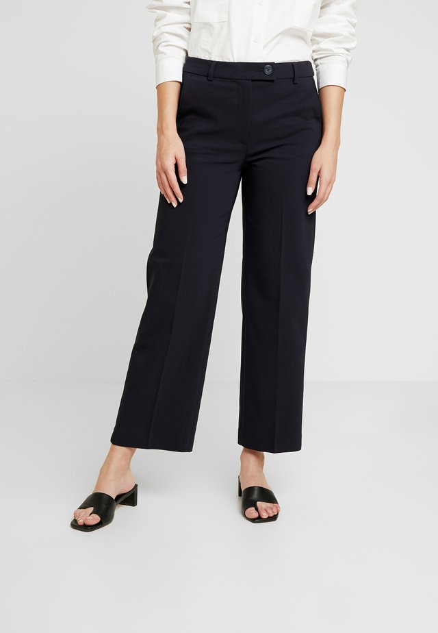 STRAIGHT - Trousers - navy