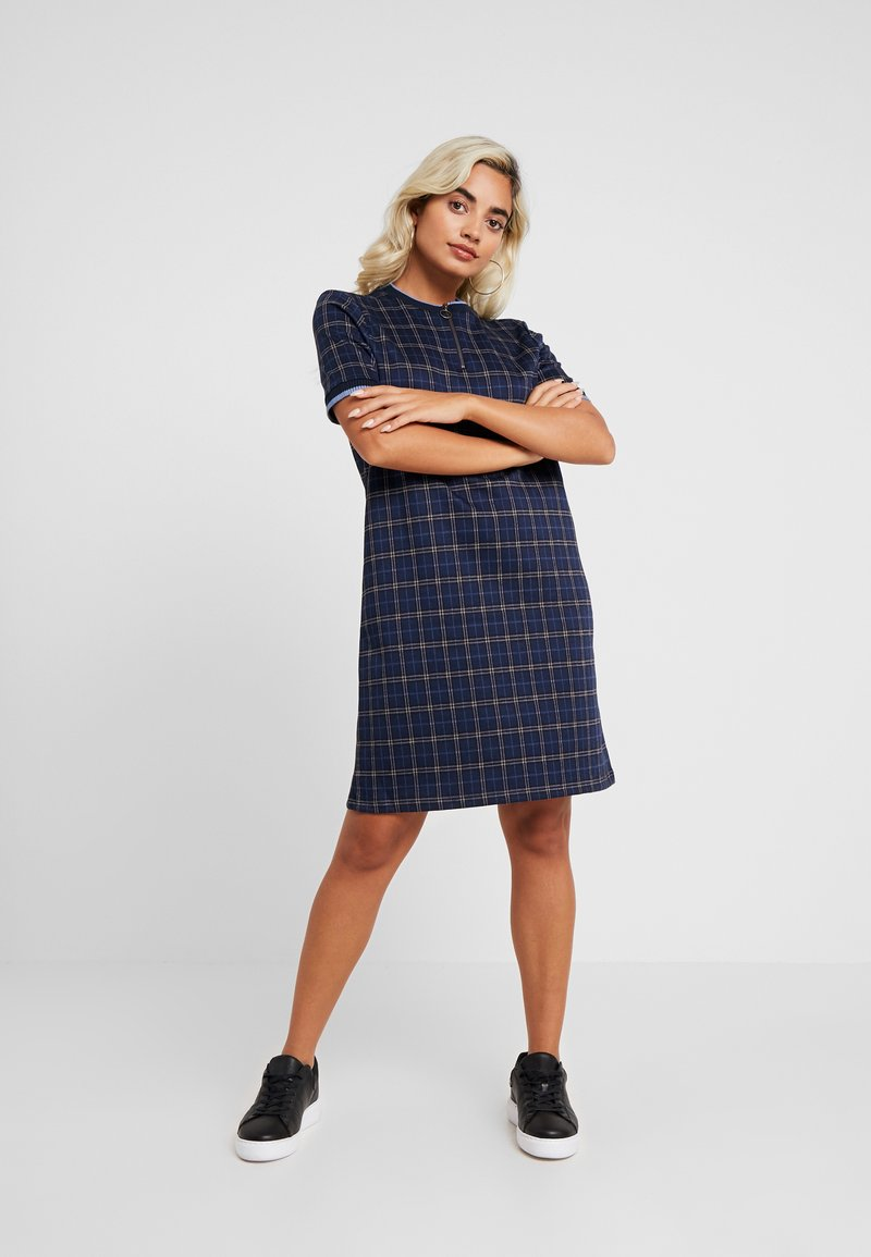 Esprit Petite - APO  LINE DRESS - Korte jurk - navy