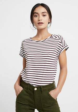 STRIPE - Print T-shirt - bordeaux red