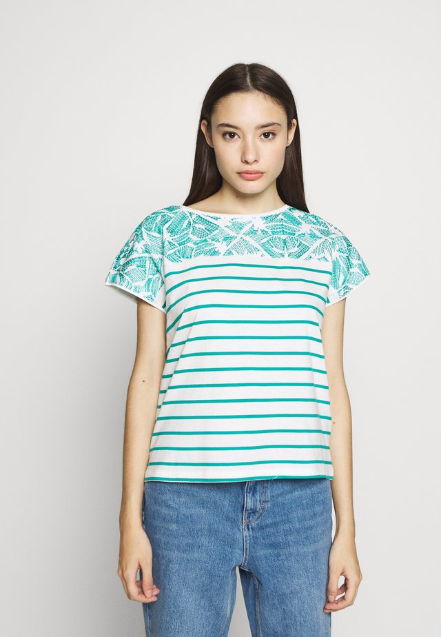 Print T-shirt - teal green