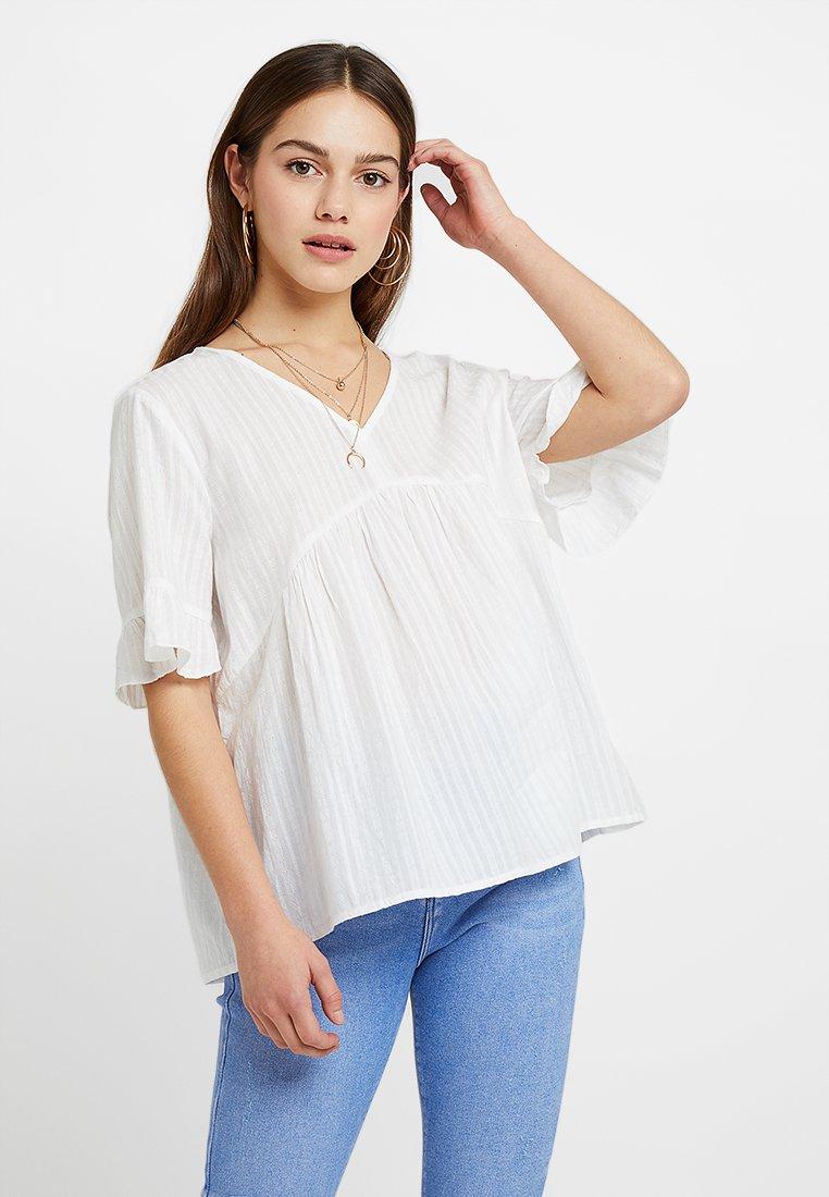 Esprit Petite - LENO DOBBY - Bluse - white