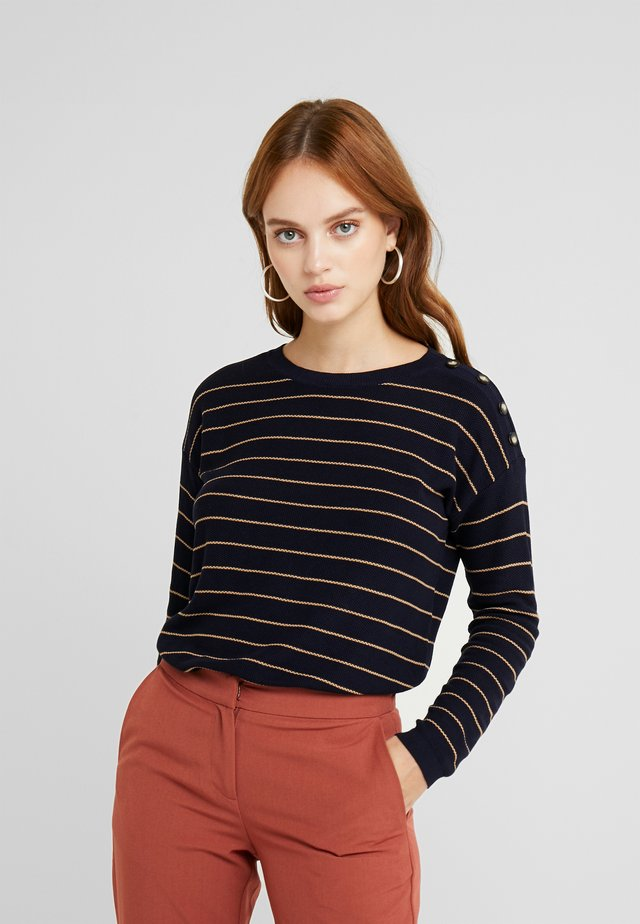 STRIPED - Strikkegenser - navy