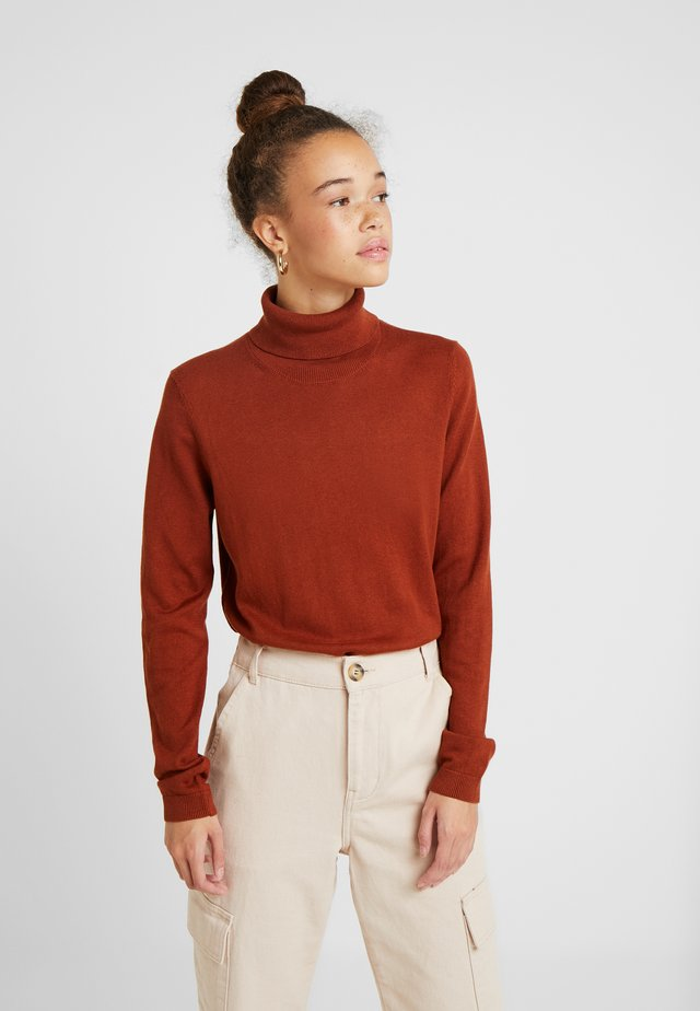 Sweter - rust brown