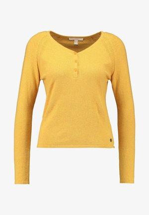 HENLEY - Trui - honey yellow