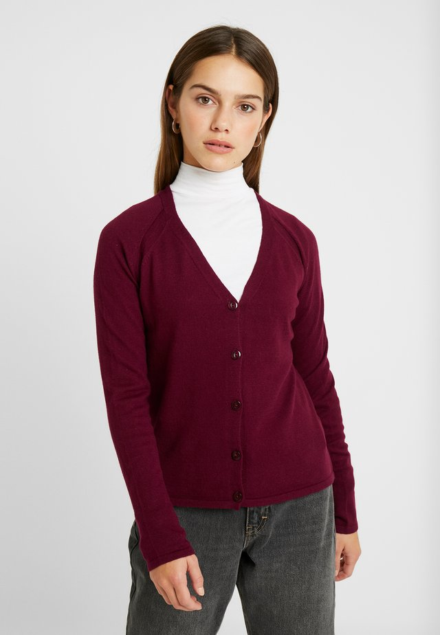 CARDIGAN - Cardigan - bordeaux red