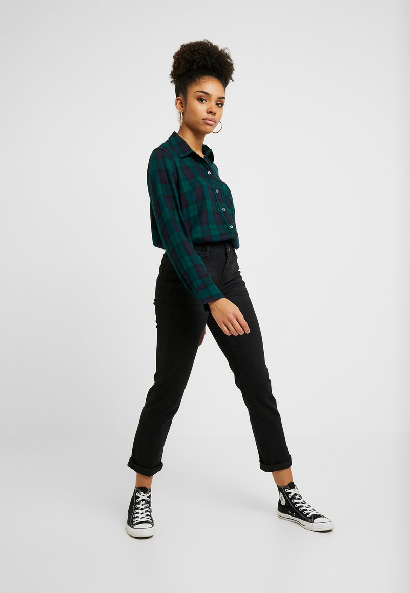 Esprit Petite - Straight leg jeans - black dark wash