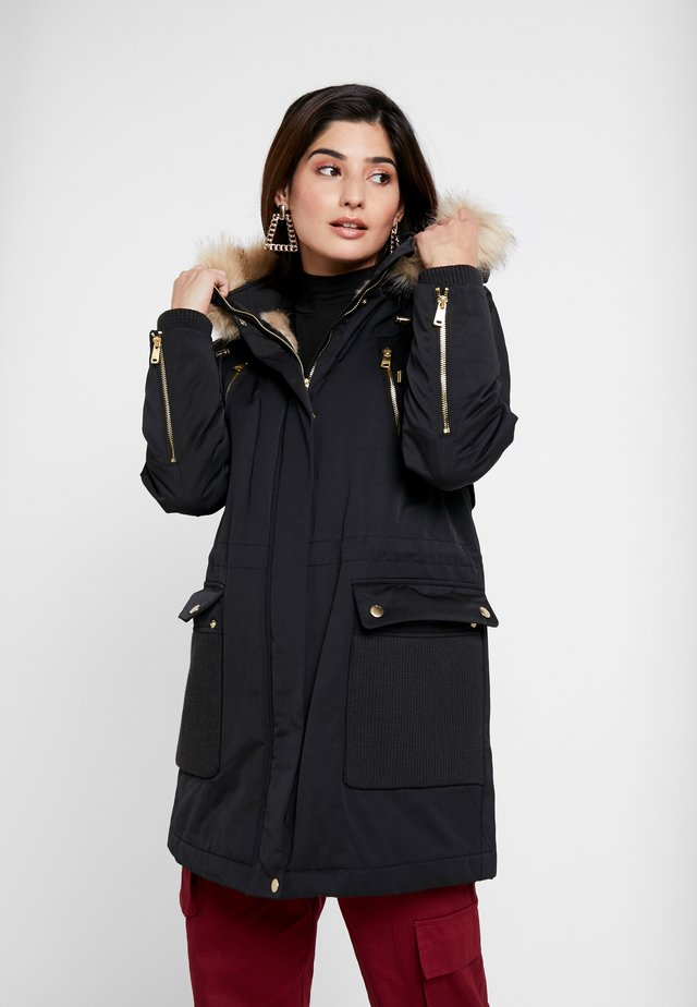 PADDED COAT - Vinterkåpe / -frakk - black