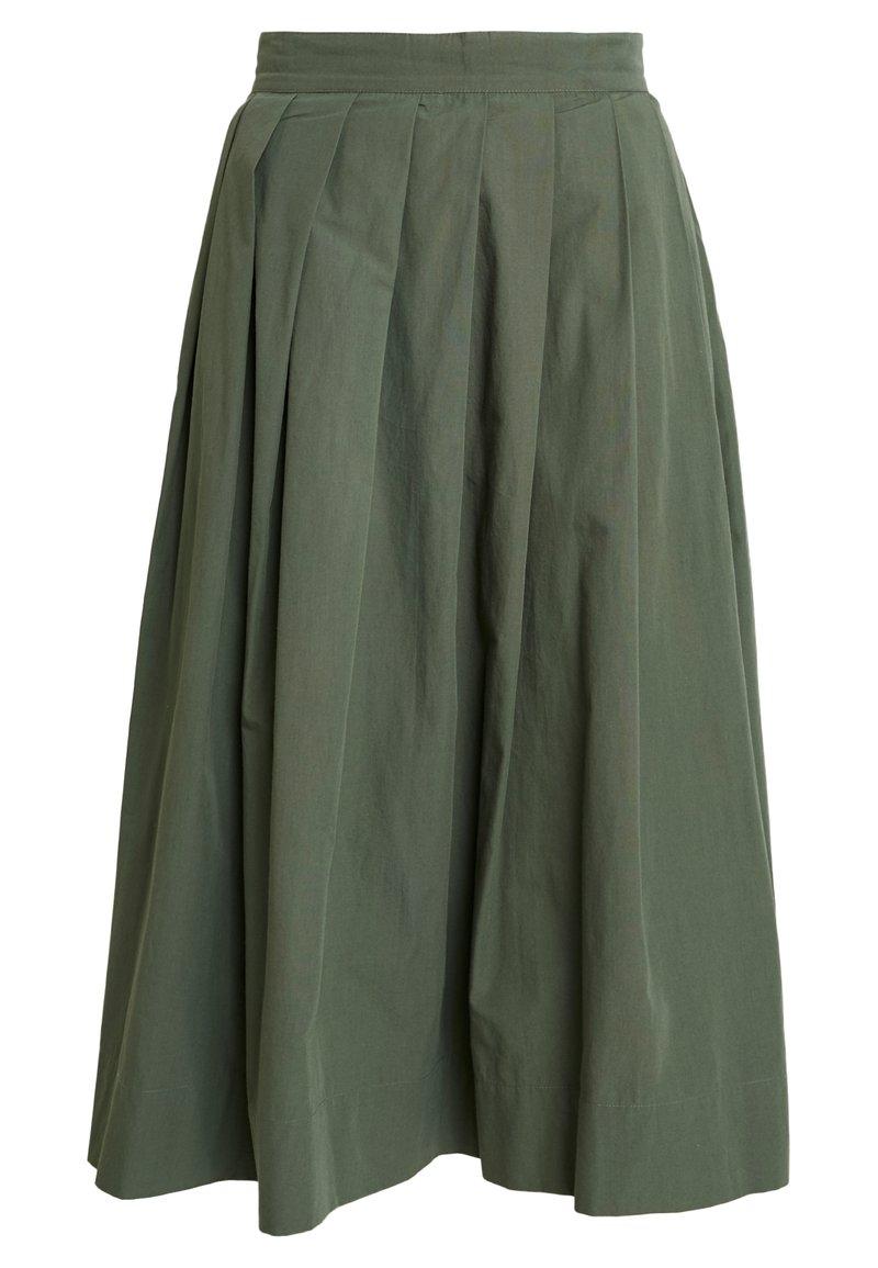 esmé studios - TINE SKIRT - Plisovaná sukně - thyme