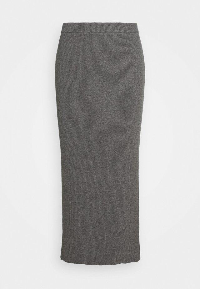 SKYLAR SKIRT - Pencil skirt - grey melange