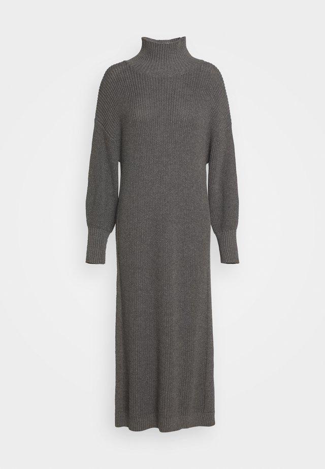 SCARLETT DRESS - Gebreide jurk - grey melange