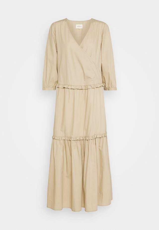 ELLY WRAP AROUND DRESS - Maxi dress - white peper