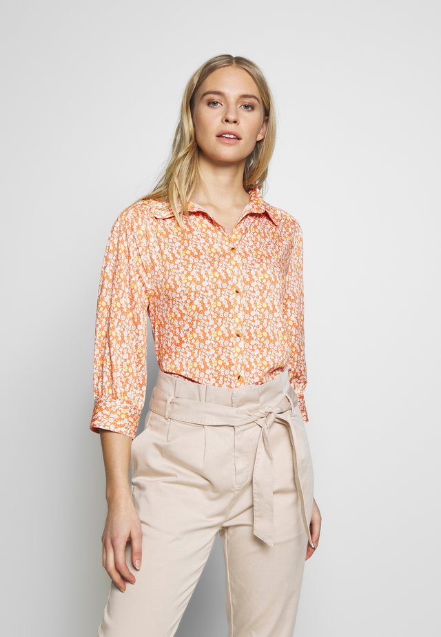 ZOEY BLOUSE - Button-down blouse - carnelian