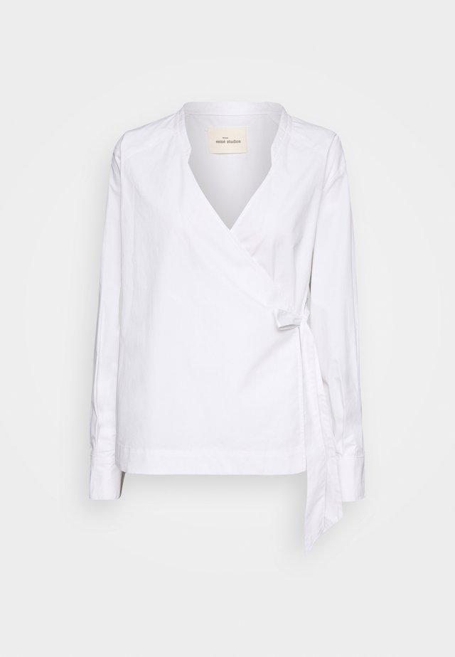 STRAP WRAP AROUND SHIRT - Blouse - white