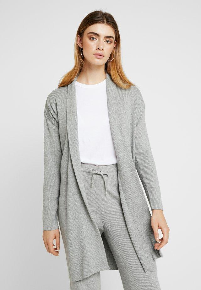 ELISE CARDIGAN - Strickjacke - mottled light grey