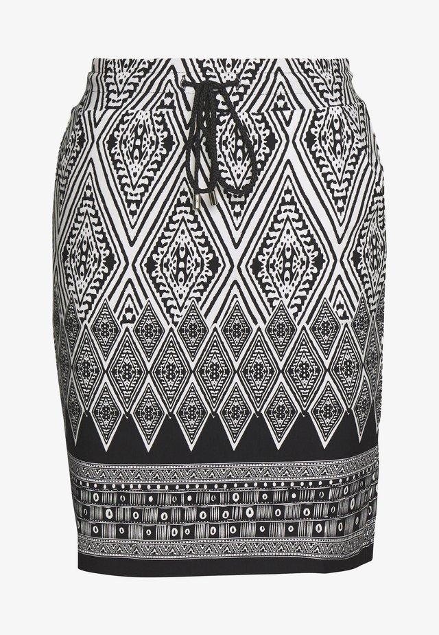 SKIRT IKAT PRINT - Pencil skirt - black