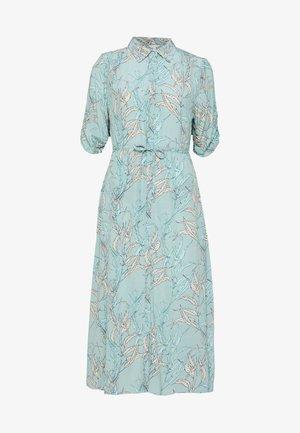 DRESS LONG HARVEST PRINT - Vestido camisero - turquoise