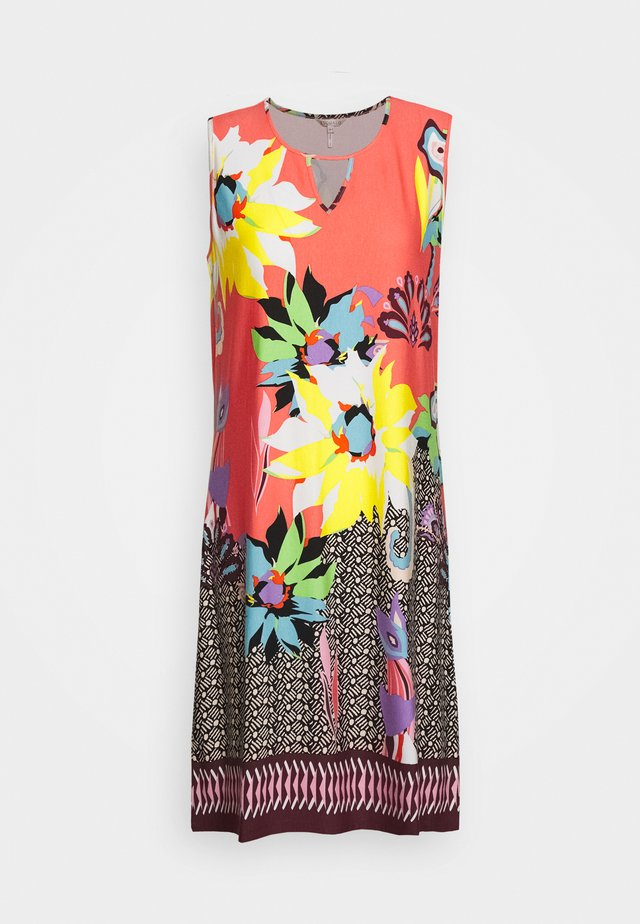 DRESS TROPICAL PRINT - Jerseykjole - multi-coloured
